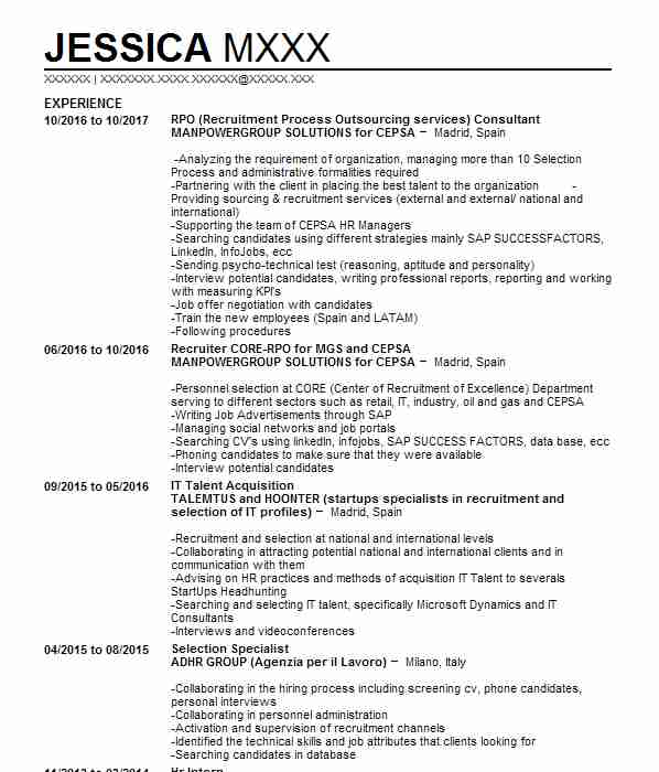 recruitment cv - Kubrakubkireklamowe