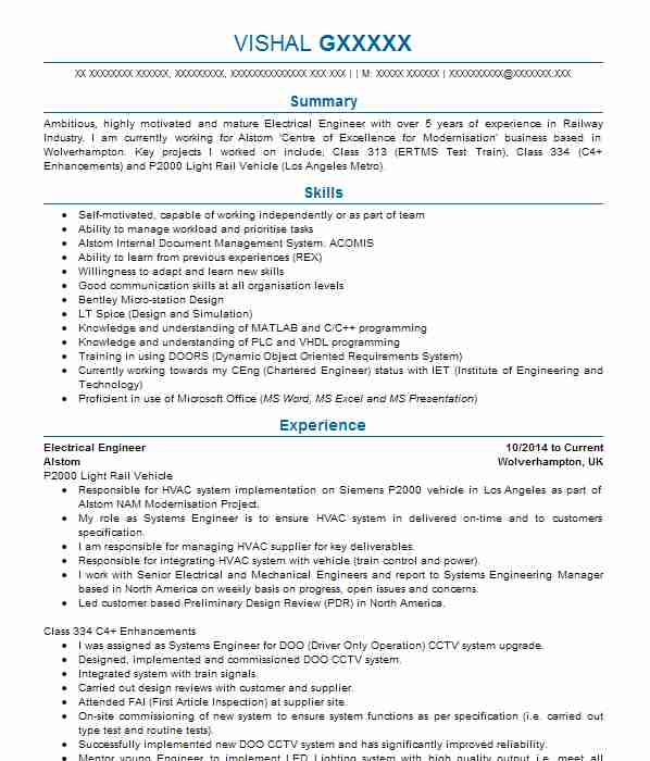 9754 Engineering CV Examples  Templates LiveCareer - Engineering Cv