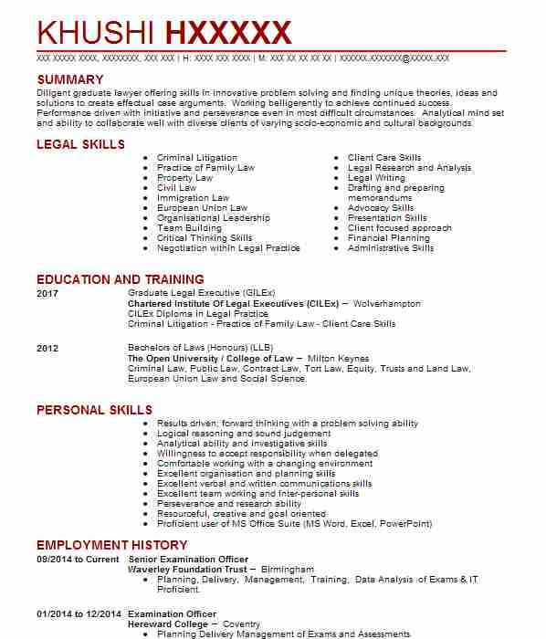 349 Paralegal CV Examples Legal CVs LiveCareeradditional skills for - Sample Personal Skills In Resume