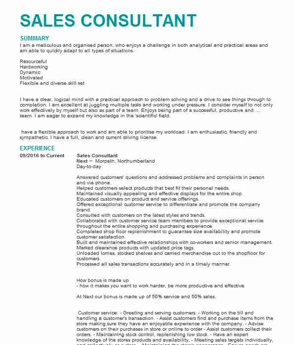 Customer Assistant CV Example (Tesco) - Cupar, Fife - tesco cv