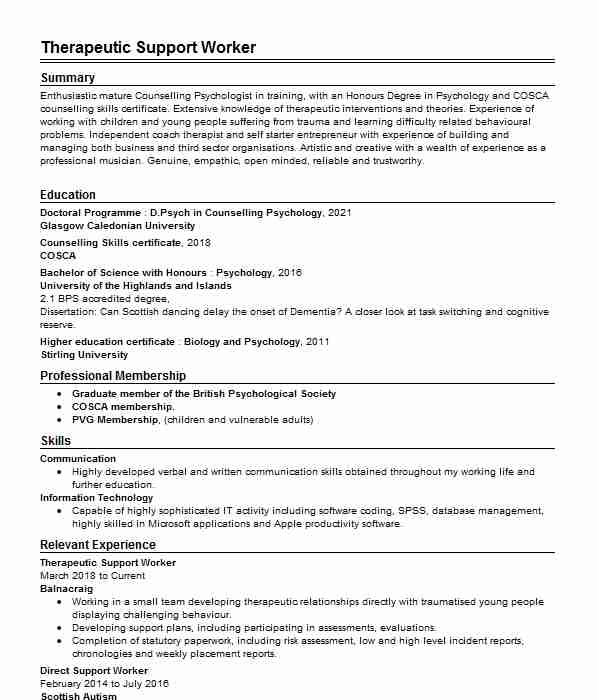 Refuge Worker CV Example (North Down And Ards Women\u0027s Aid) - ,