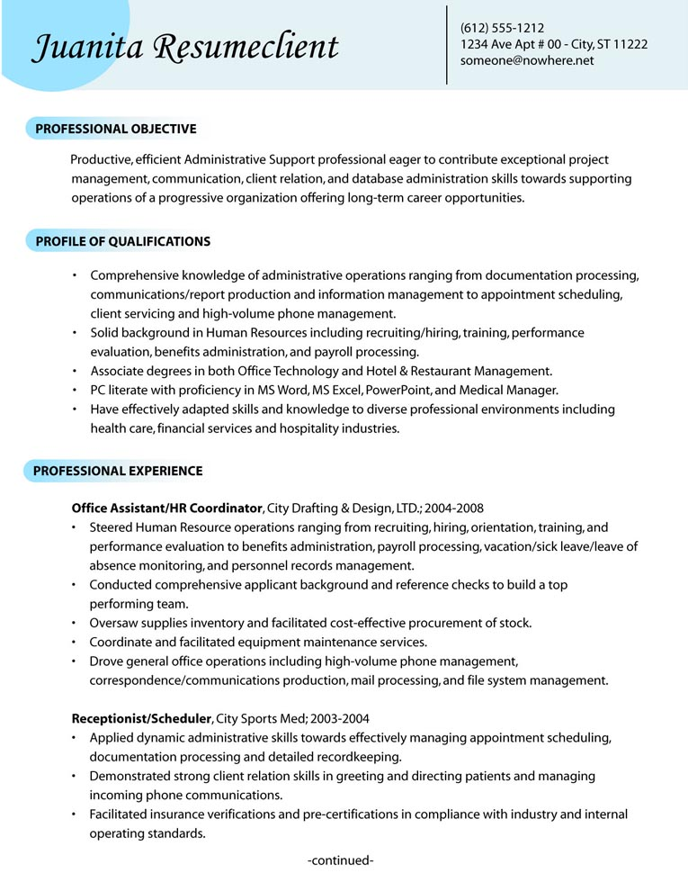 administrative support resume sample - Ozilalmanoof - administrative resume examples