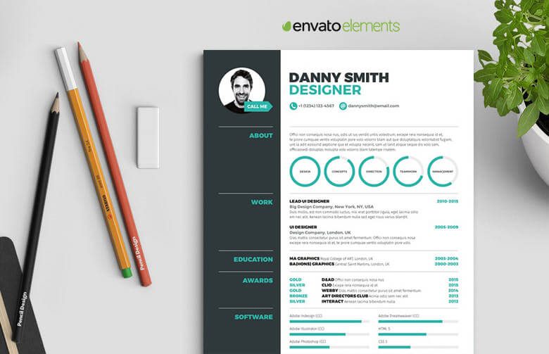 5 Pages Infographic Resume Template - Resumes Mag