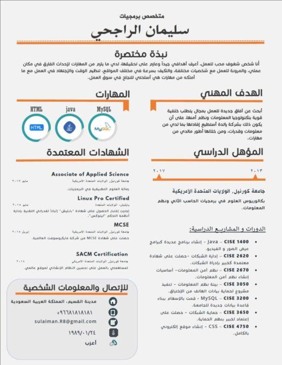Echo - Beautiful Editable Arabic Resume Template - Resumes Mag - editable resume template