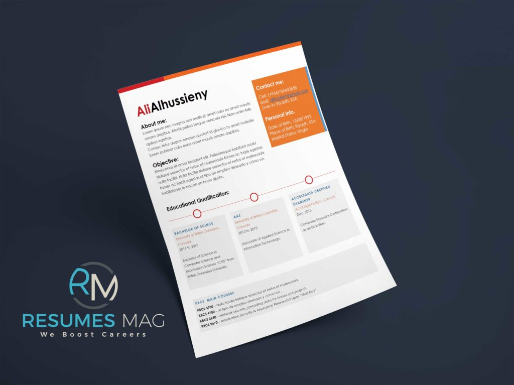 Caren - Two Page Resume Template - Resumes Mag