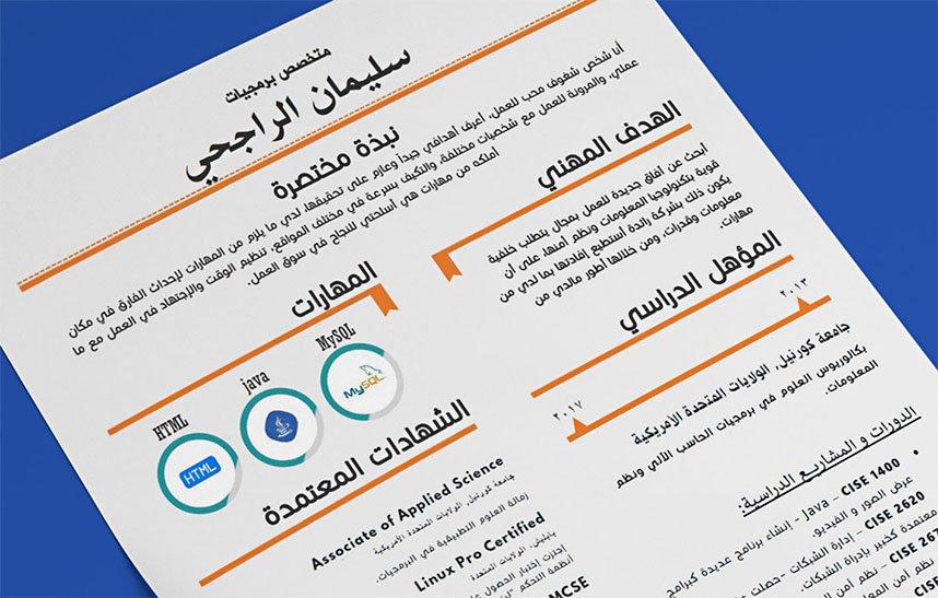 Echo - Beautiful Editable Arabic Resume Template - Resumes Mag - resume template editable