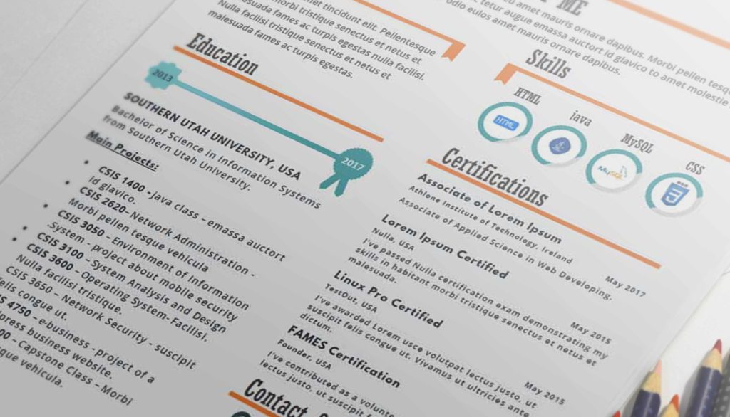 Hola - One Page Infographic Resume Template - Resumes Mag Resume - infographic resumes