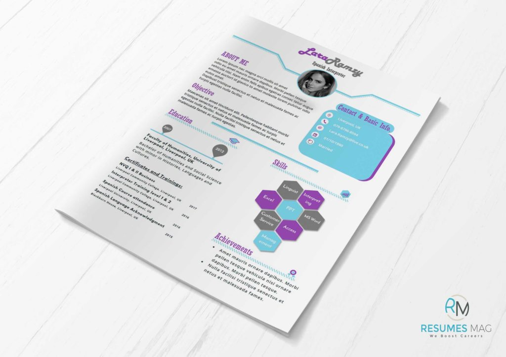 Lilac - Two Pages Soft Infographic Resume Template - Resumes Mag - attractive resume template