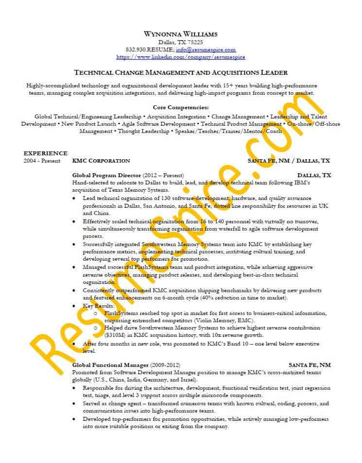 Best Resume Samples for Executives and Professionals ResumeSpice - High Impact Resume Samples