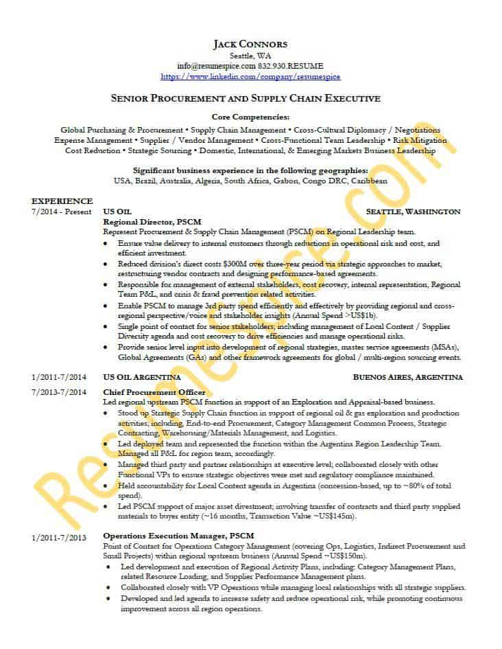 Best Resume Samples for Executives and Professionals ResumeSpice - cultural adviser sample resume