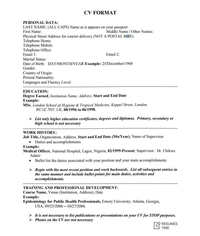 100+ Free Resume Samples  Examples at ResumesTime