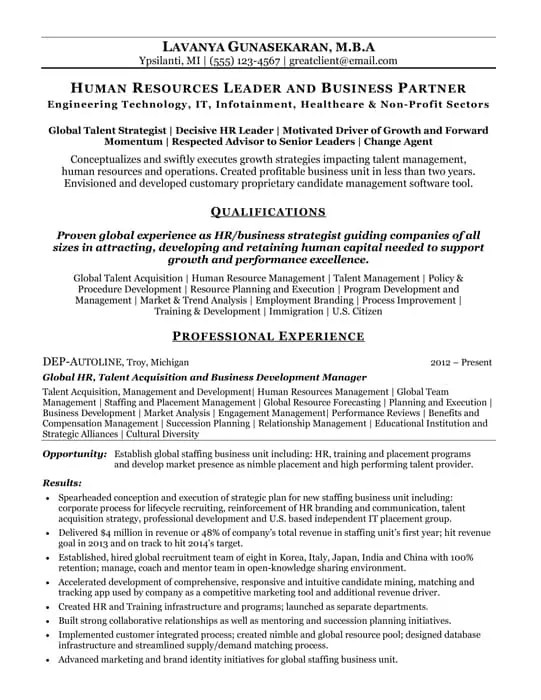 Resume Samples Best Resume Writing Services Hire Resume Writer - human resource resumes