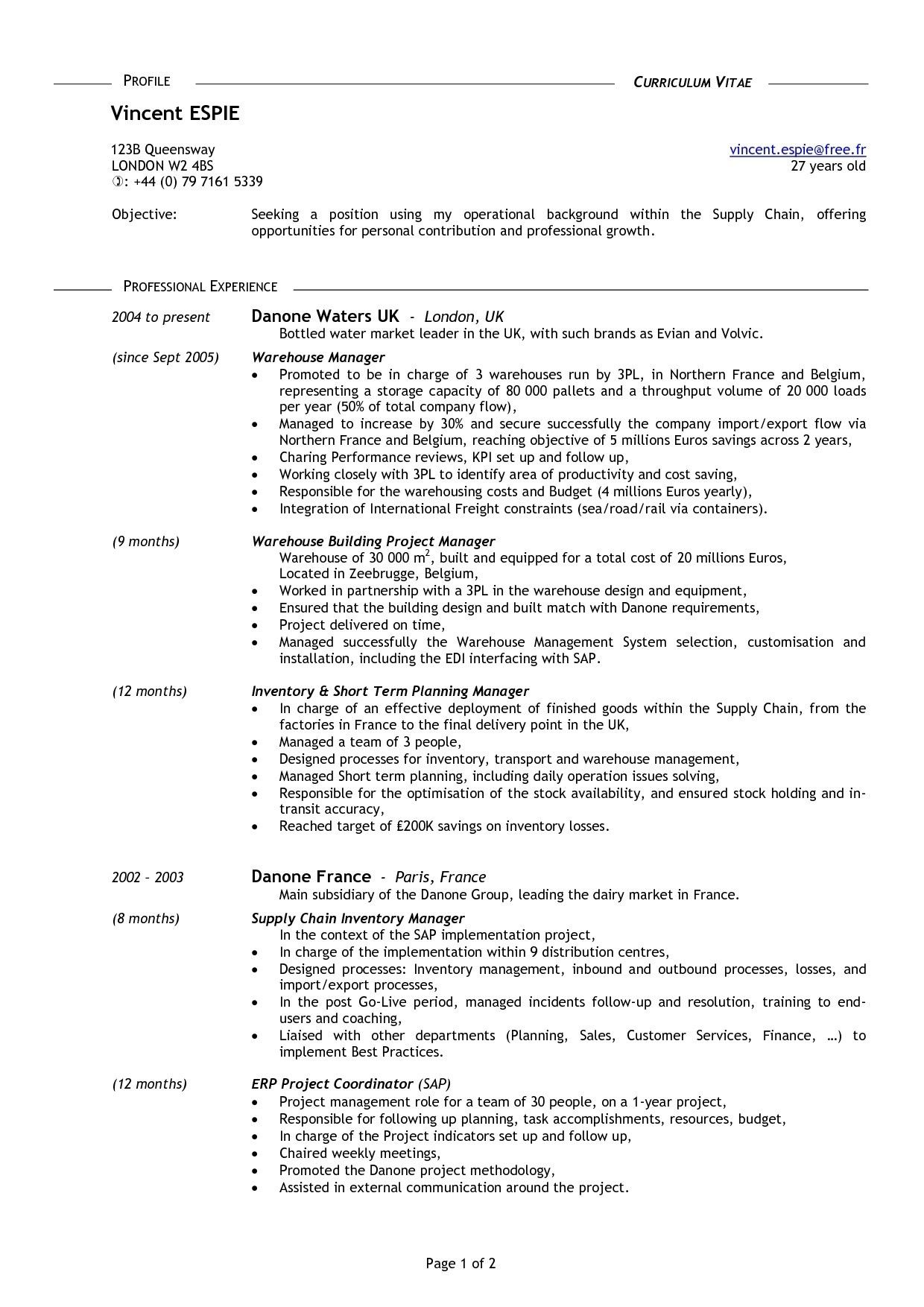 resume 16 year old no experience