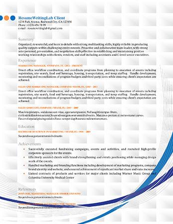 Professional Resume Templates Resume Writing Lab