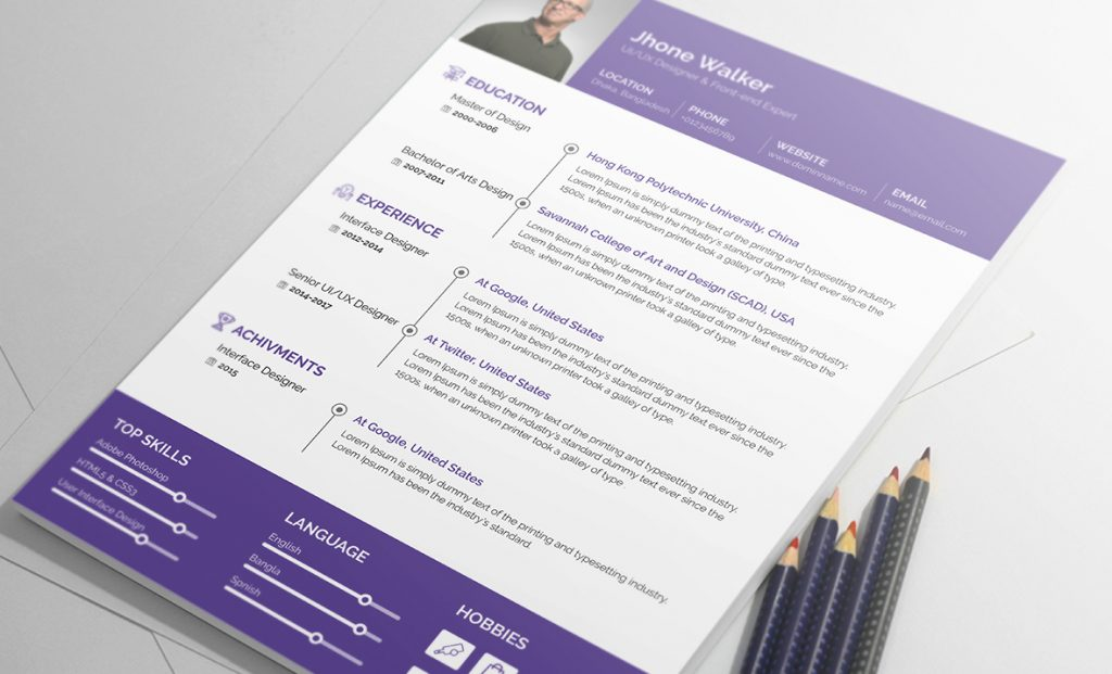 Best free resume templates 2017 by resummme - NorthUI - best free resume template