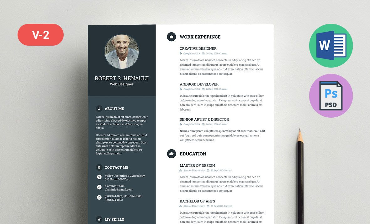 free resume cv template docx
