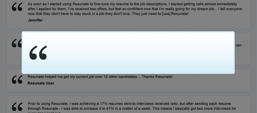 Resunate The Only Smart Online Resume Builder