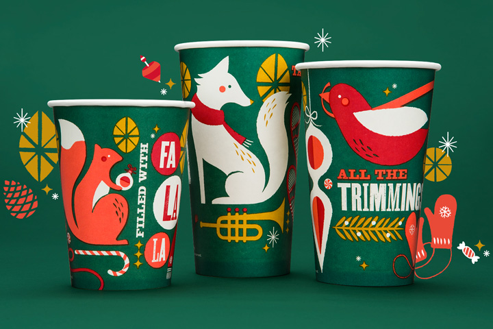 Panera Bread 2013 Holiday branding by Willoughby Design