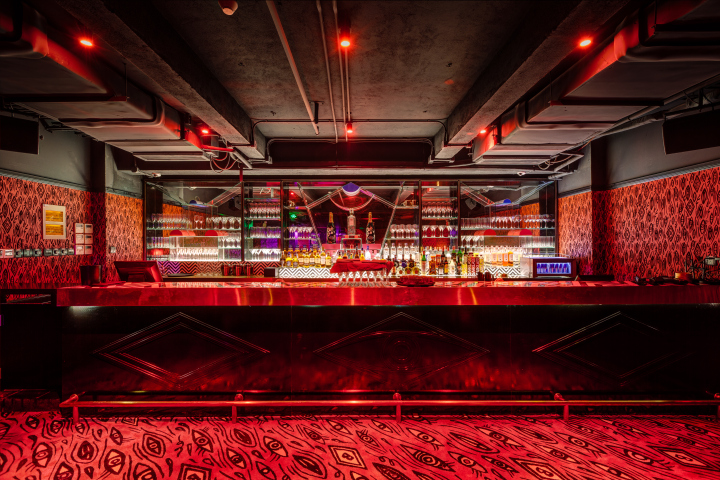 Black And White Gothic Wallpaper 187 Le Baron Nightclub By Storeage Shanghai China