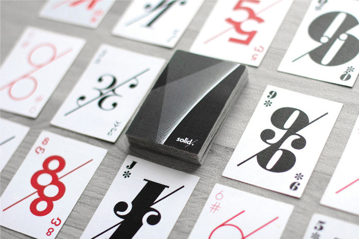 Solid Studio playing cards