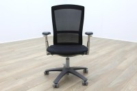 Knoll Life Black Mesh / Fabric Multifunction Office Task Chair