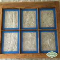 DIY Old Window Picture Frames - Retired Grammie