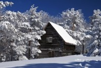 house in winter by adamr