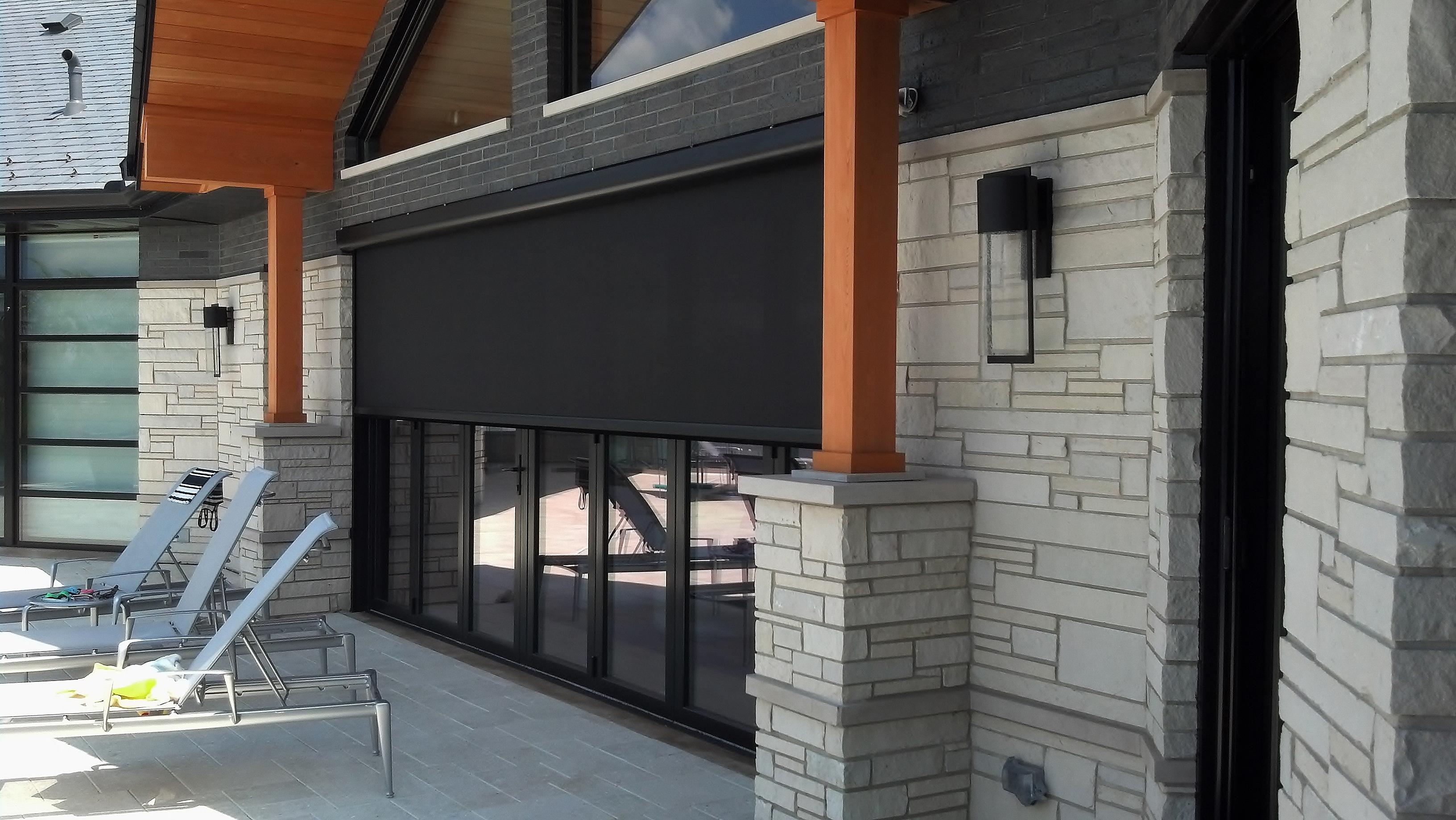 Magnatrack Motorized Retractable Screens For Patios Porches