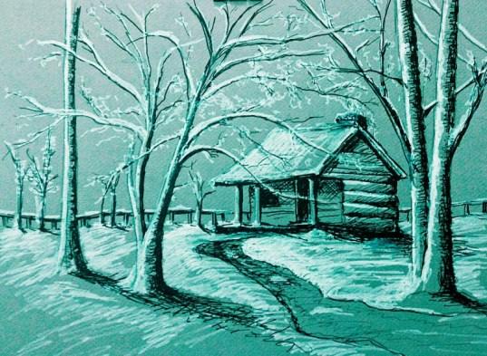 Una-cabaña-en-invierno-Cabin-in-a-winter-landscape-Author-Jose-Manuel-Gallego-Garcia-all-rights-reserved-visit-retratarte.org-