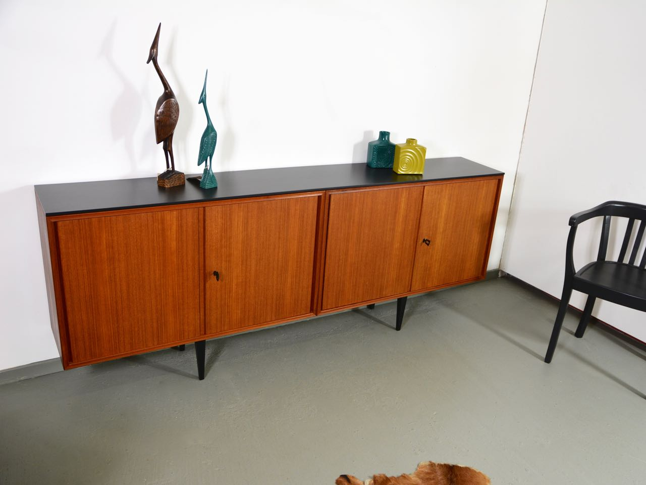 Langes Sideboard Sold Langes 60s Teak Sideboard 2 Meter Retro Salon Cologne