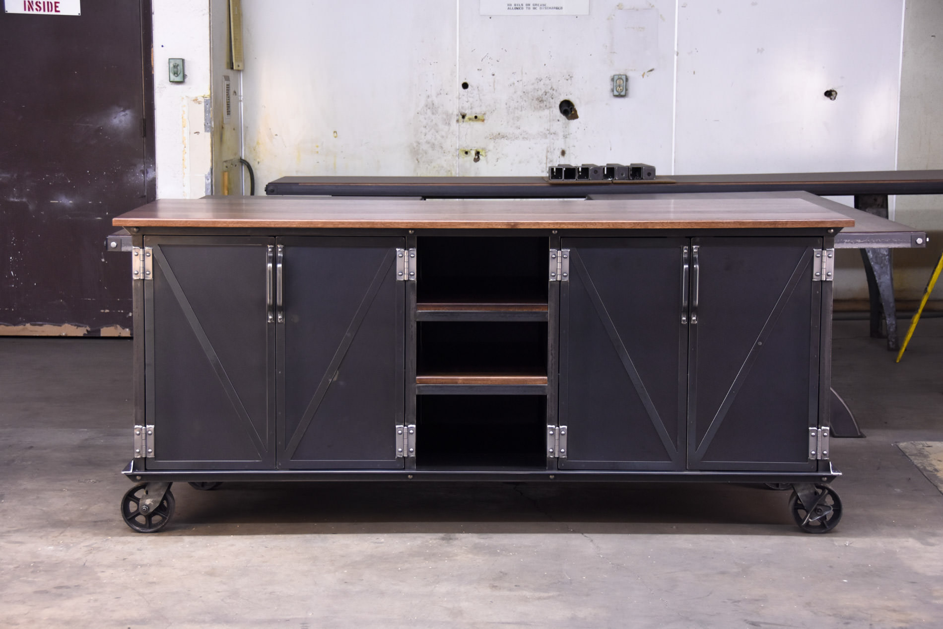 Industrial Kitchen Island For Sale Walnut Ellis Kitchen Island – Model #e52 | Vintage