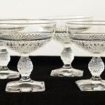 Quality Cambridge Glass Mount Vernon stemware set of four. Circa 1930's