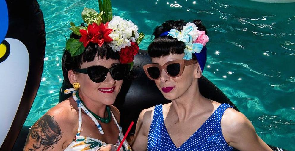 QT Hotel Gold Coast pinup pool party