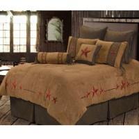 Red Triple Star Western Bedding Comforter Set