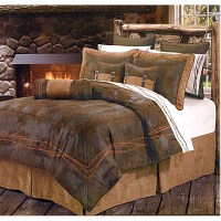 Ranch Barbwire Chocolate Western Bedding Comforter Set ...