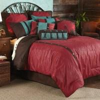 Cheyenne Red Comforter Set Super King