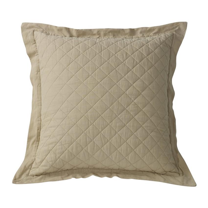 Linen Quilt Standard Pillow Sham (1) Khaki