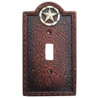Circle Star Western Decorative Single Switch Plate Wall Plate