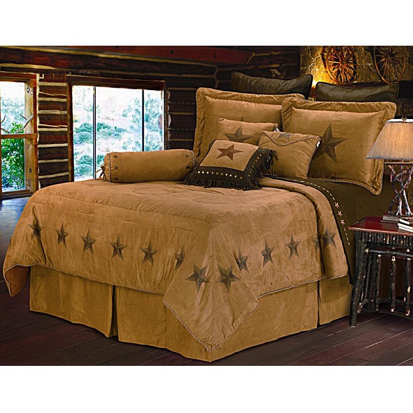 Star Dark Tan Western Bedding Set Full