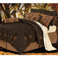 Laredo Star Chocolate Western Bedding with Embroidered Stars