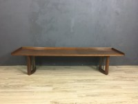 Mid Century Bench with Upholstered Cushion - Retrocraft ...