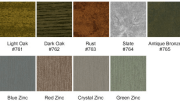 CENTRIA has added four new zinc finish options to its Allusion Print Coat System.