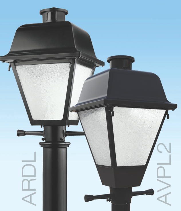 Post Top Luminaires Upgraded To Led Versions Retrofit