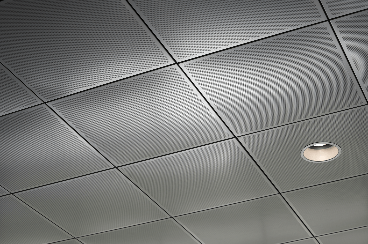 Clip In Metal Ceiling Panels Integrate With And Conceal