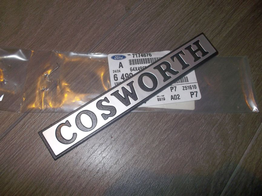 Orion Shops Cosworth Badge