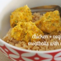 chicken + vegie balls with rice in your thermomix