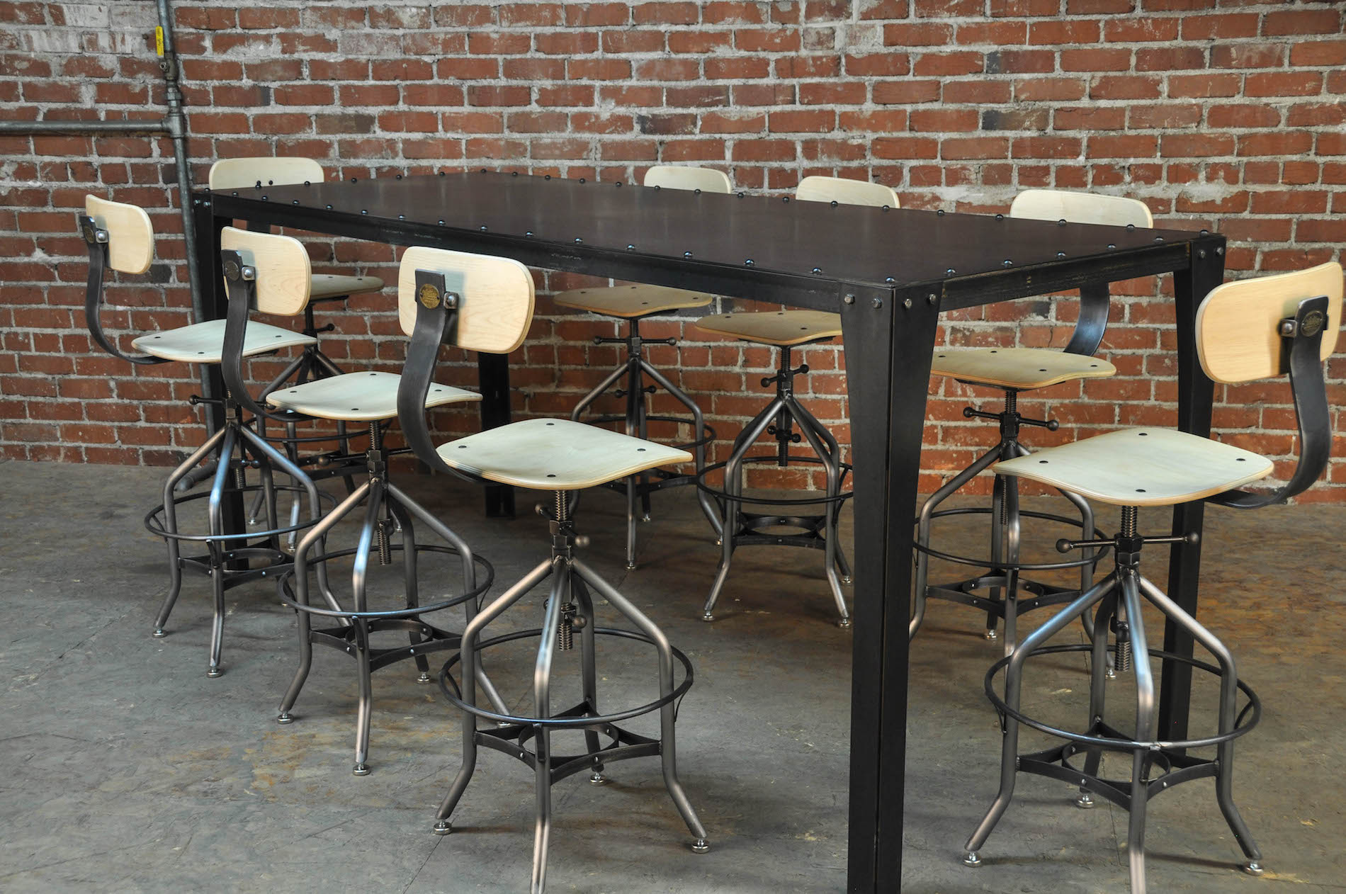 Standard Kitchen Table Top Height Simple Metal Table – Vintage Industrial Furniture