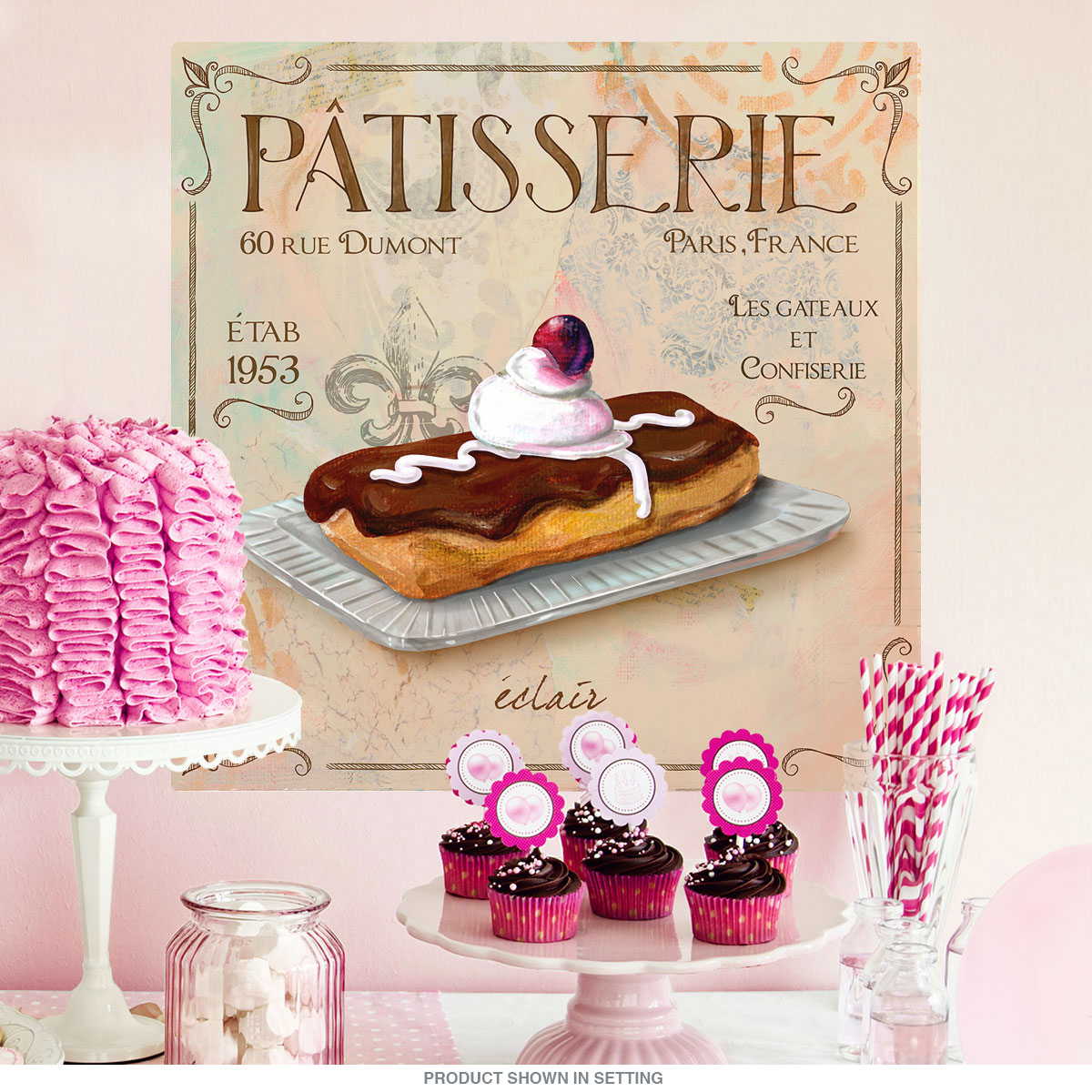Plaque Patisserie Ikea Patisserie Eclair French Bakery Wall Decal At Retro Planet