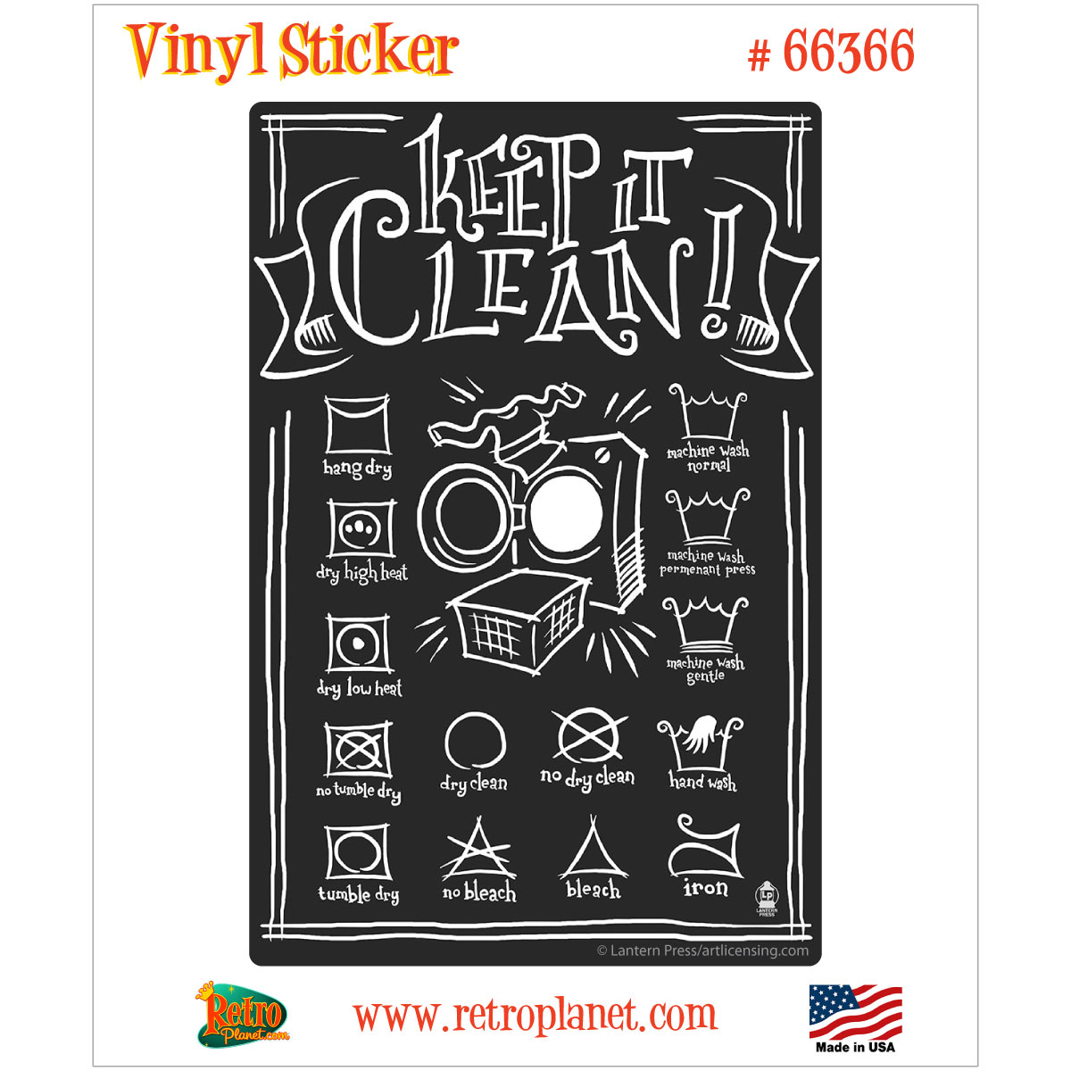 Keep It Clean Keep It Clean Laundry Tags Vinyl Sticker