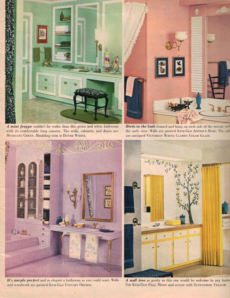 Pink and green bathroom decor - Hippie Bathroom Decor